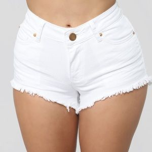 """""""Not a Basic Chick"""" Mid-Rise Shorts"""